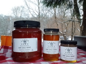 Honey from our local bees and the Boston Honey Co. makes the best holiday gift!