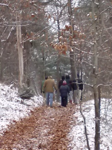 Hiking the trails to find the perfect Christmas Tree!